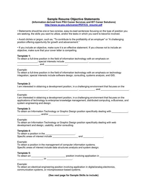 General Resume Objective For Fair by 17 Best Ideas About Resume Objective Exles On