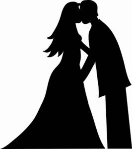 Bride And Groom Kissing Silhouette Smu | Free Images at ...