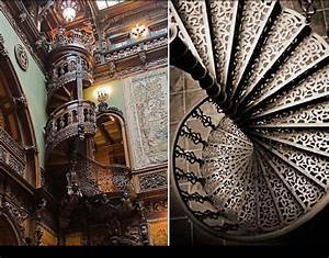 Castle Peles' wooden spiral stairway | Staircases | Pinterest