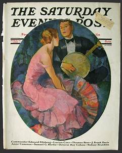 1931 Saturday Evening Post Cover ~ Banjo Player Serenades ...