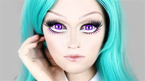 anime eyeliner anime doll makeup easy look