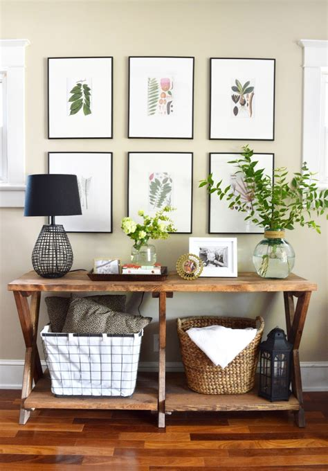 How To Make An Entryway Table by 11 Tips For Styling Your Entryway Table