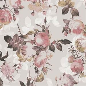 klebefolie vintage blumen muster mit rosen With markise balkon mit retro blumen tapete
