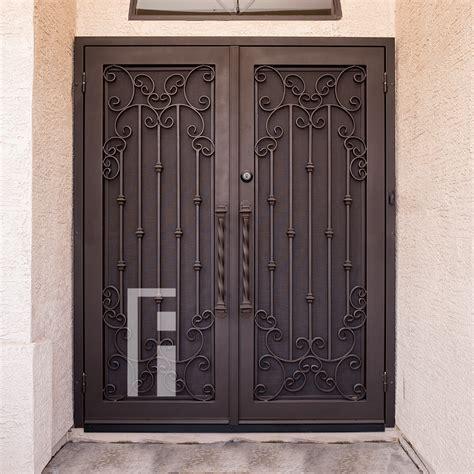 californian iron security door  impression ironworks