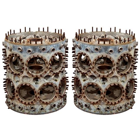 Pair of Curtiss-Wright 'Cyclone' Radial Engine Blocks at ...