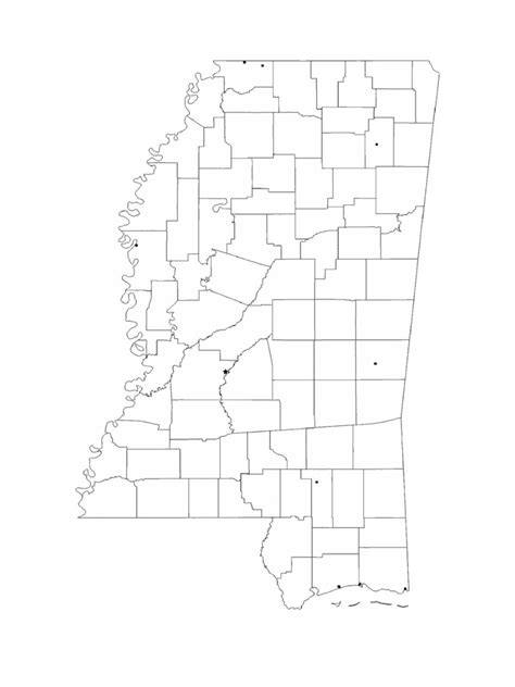 mississippi map template   templates   word