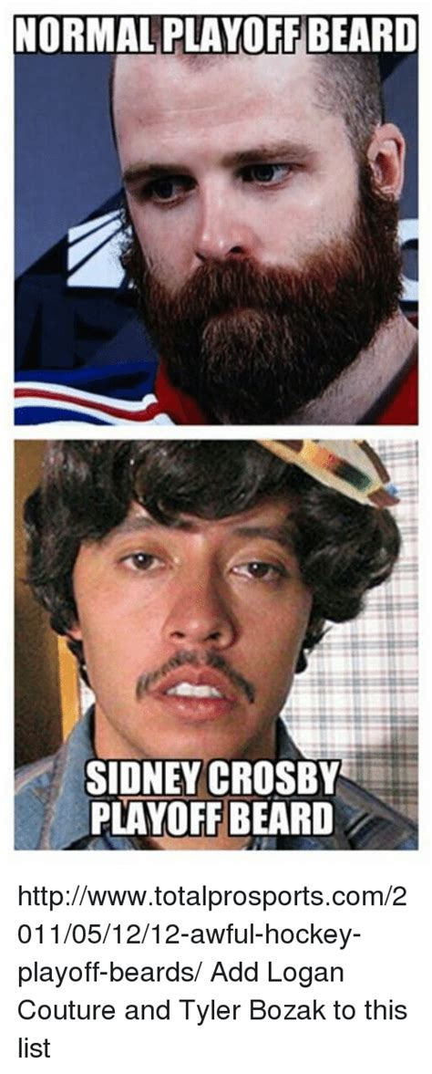 Playoff Beard Meme - normalplayoff beard sidney crosby playoff beard httpwwwtotalprosportscom2011051212 awful hockey