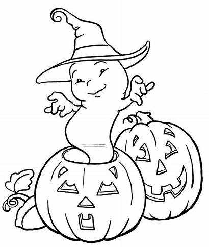 Coloring Ghost Pages Printable Halloween Colouring Coloriage