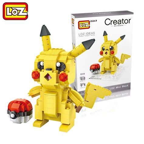 loz 1209 pikachu pokeball mini block 438 pcs mister model