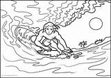 Surfing Coloring Pages Printable Print Books sketch template