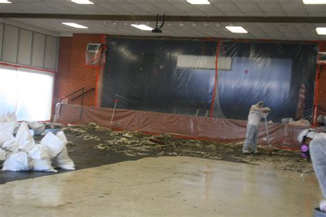 asbestos floor tile removal  schools wynn  white
