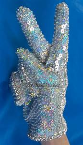 5 11 Glove Size Chart Michael Jackson Sequins Diamante Glove In Any Size