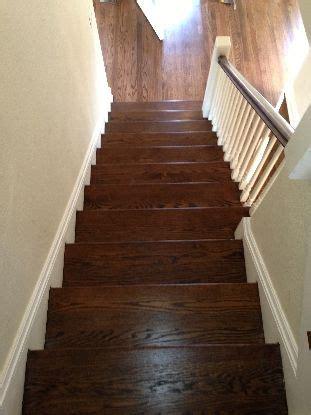 stairs red oak  dark walnut stain remodel ideas