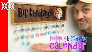 Make a family birthday calendar Fun gift idea! - YouTube