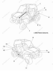 Polaris Side By Side 2011 Oem Parts Diagram For Body