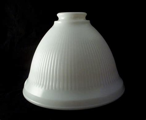 stiffel vintage milk glass torchiere l shade white ribbed l shades