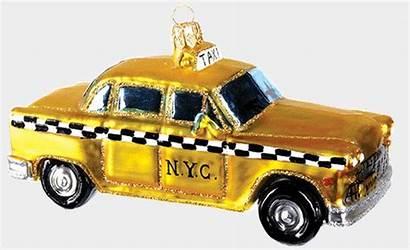 Taxi York Cab Decoration Glass Polish Ornament