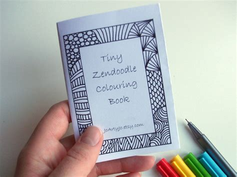 mini zine printable zentangle inspired coloring book