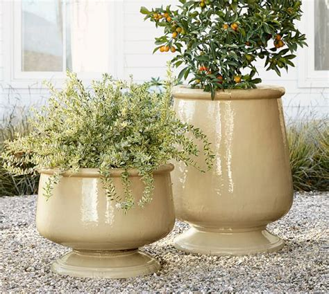 Outdoor Pottery Planters by Reactive Glaze Planter Pottery Barn