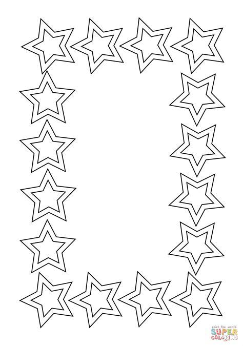 cornice da stare disegno di cornice di stelle da colorare disegni da