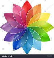 Creative Color Wheel Flower Design