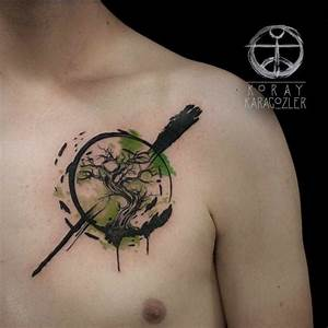 25+ Watercolor Zen Circle Tattoos Ideas