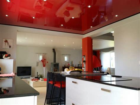 cuisine blanche plafond tendu brieuc plafonds modernes de bretagne