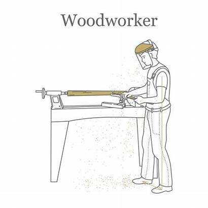 Lathe Wood Vector Clip Works Wooden Illustrations