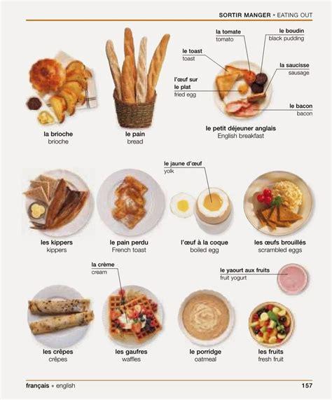 vocabulaire anglais cuisine 17 best images about fle nourriture petit déjeuner on