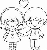 Coloring Couple Pages Cartoon Valentine Print Printable Wedding Drawings Cartoons Couples Valentines Drawing Freekidscoloringpage Para Clipart Animated Dia Adults Little sketch template
