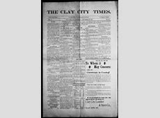 About The Clay City times Clay City, Ky 1901current