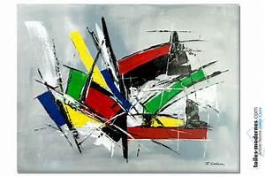 Tableau Moderne Coloré : tableau contemporain color exultation ~ Teatrodelosmanantiales.com Idées de Décoration