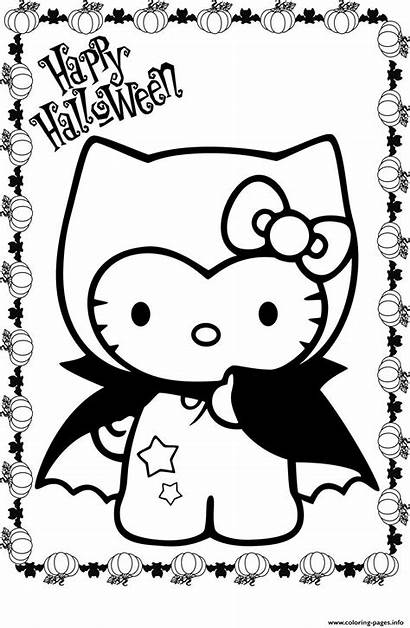 Kitty Coloring Hello Costume Pages Printable