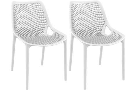 chaises blanches design lot de 2 chaises design blanches max chaise design pas cher