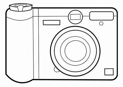 Camera Coloring Pages Simple Clip Edupics Crafts