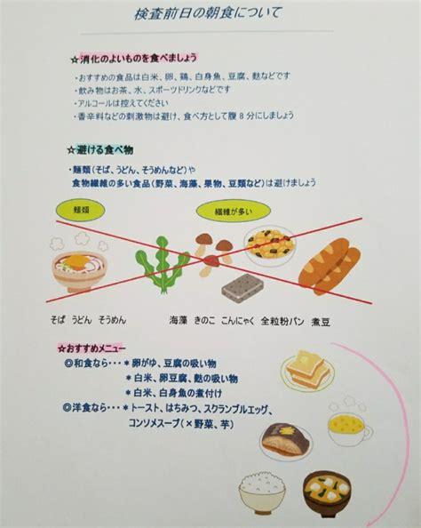 大腸 内 視 鏡 検査 前 の 食事