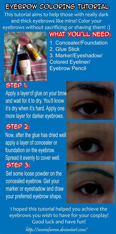tutorial coloring eyebrows  cosplay finally gonna