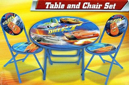 disney pixar cars table and chair mcqueen 3 peice folding