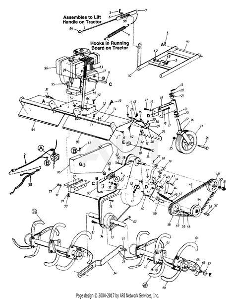 mtd     parts diagram  tiller assembly