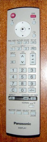 Panasonic Plasma Remote Control Group Picture Image