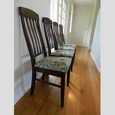 Reupholster Kitchen Chairs With Rugs Easy Diy Inexpensive