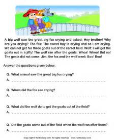free reading comprehensions reading comprehension stories worksheet 7 turtle diary