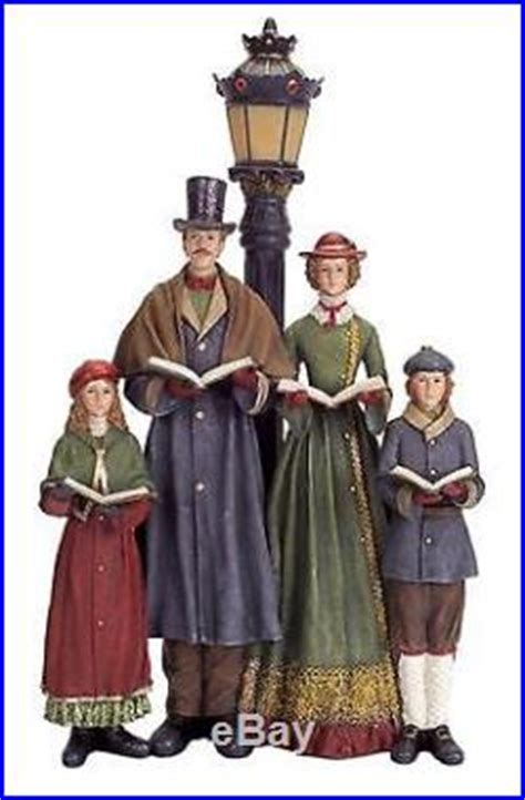 led lighted carolers  lamp post table top christmas