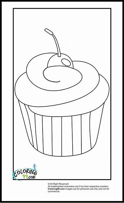 Coloring Pages Cupcake Cupcakes Easy Ice Cream