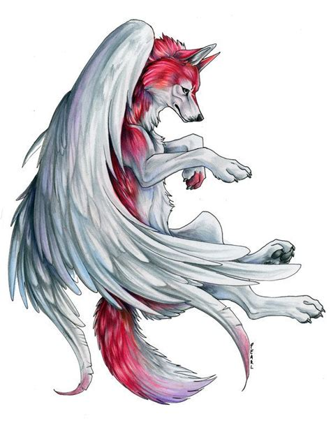 anime crystal wolves winged wolf anime wolves cool