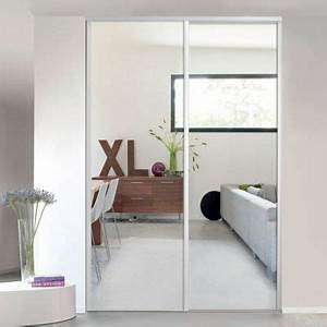 Porte Coulissante Placard Miroir : porte de placard coulissante miroir blanc form valla 62 2 ~ Melissatoandfro.com Idées de Décoration