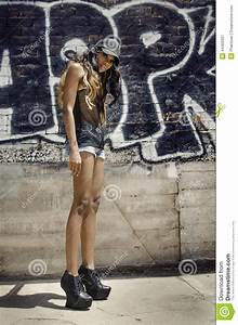 African American Model Hip Hop Shoot Stock Photo - Image ...