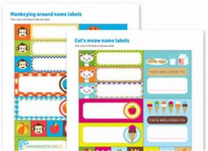 printing kids name labels With hp label templates