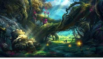 Fantasy Screensavers Cool Forest Awesome Wallpapers Backgrounds