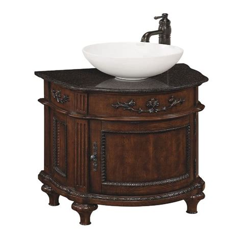 bathroom sink style selections 26 in antique cherry vinton single sink